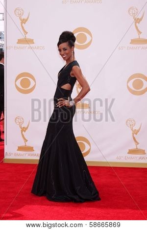 Shaun Robinson at the 65th Annual Primetime Emmy Awards Arrivals, Nokia Theater, Los Angeles, CA 09-22-13