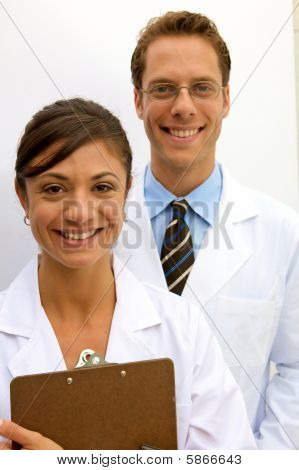 Female And Male Scientists