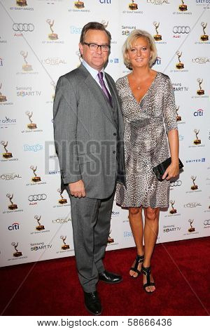 Hugh Bonneville and wife Lulu Williams  at the 65th Annual Emmy Awards Performers Nominee Reception, Pacific Design Center, West Hollywood, CA 09-20-13