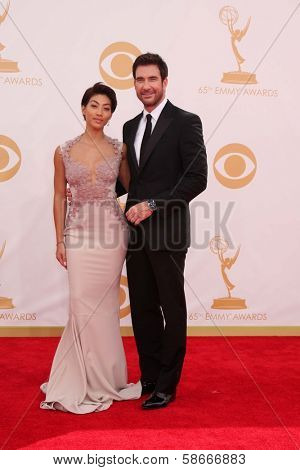 Dylan McDermott and Shasi Wells at the 65th Annual Primetime Emmy Awards Arrivals, Nokia Theater, Los Angeles, CA 09-22-13