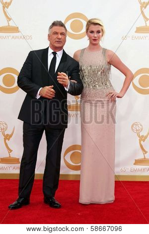 Alec Baldwin and Ireland Baldwin at the 65th Annual Primetime Emmy Awards Arrivals, Nokia Theater, Los Angeles, CA 09-22-13