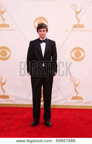 Freddie Highmore at the 65th Annual Primetime Emmy Awards Arrivals, Nokia Theater, Los Angeles, CA 09-22-13