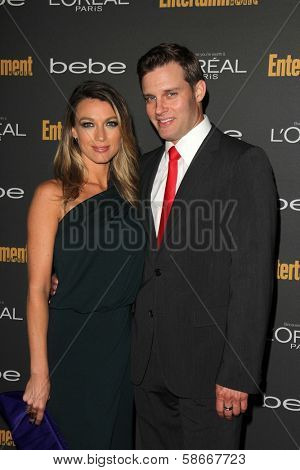 Natalie Zea and Travis Schuld at the 2013 Entertainment Weekly Pre-Emmy Party, Fig& Olive, Los Angeles, CA 09-20-13
