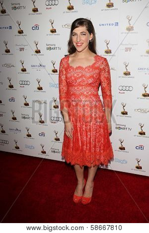 Mayim Bialik at the 65th Annual Emmy Awards Performers Nominee Reception, Pacific Design Center, West Hollywood, CA 09-20-13