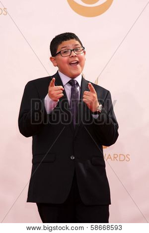 Rico Rodriguez at the 65th Annual Primetime Emmy Awards Arrivals, Nokia Theater, Los Angeles, CA 09-22-13