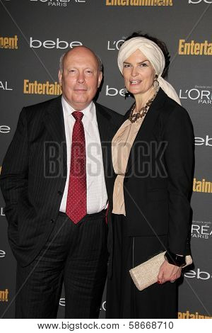 Julian Fellowes and wife Emma Kitchener-Fellowes at the 2013 Entertainment Weekly Pre-Emmy Party, Fig& Olive, Los Angeles, CA 09-20-13