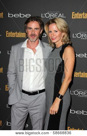 Sam Trammell and Missy Yager at the 2013 Entertainment Weekly Pre-Emmy Party, Fig& Olive, Los Angeles, CA 09-20-13