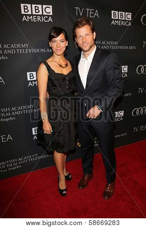 Jamie Bamber and Kerry Norton at the BAFTA Los Angeles TV Tea 2013, SLS Hotel, Beverly Hills, CA 09-21-13