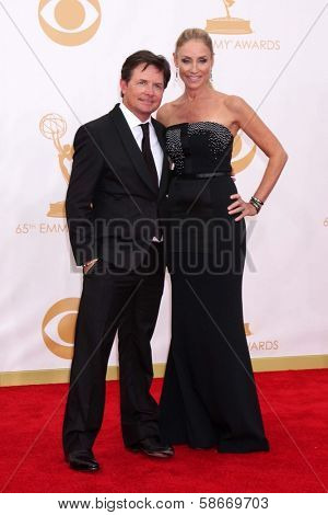 Michael J. Fox and Tracy Pollan at the 65th Annual Primetime Emmy Awards Arrivals, Nokia Theater, Los Angeles, CA 09-22-13