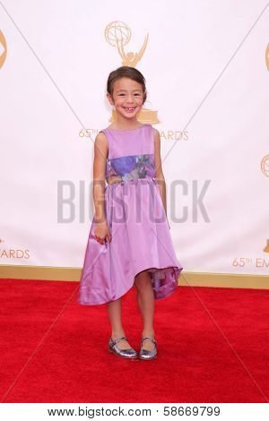 Aubrey Anderson-Emmons at the 65th Annual Primetime Emmy Awards Arrivals, Nokia Theater, Los Angeles, CA 09-22-13