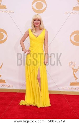 Anna Faris at the 65th Annual Primetime Emmy Awards Arrivals, Nokia Theater, Los Angeles, CA 09-22-13
