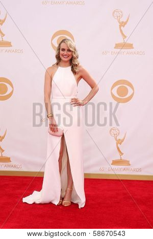 Taylor Schilling at the 65th Annual Primetime Emmy Awards Arrivals, Nokia Theater, Los Angeles, CA 09-22-13