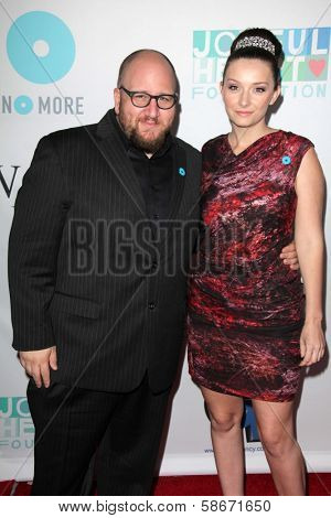 Stephen Kramer Glickman and guest at the Joyful Heart Foundation celebrates the No More PSA Launch, Milk Studios, Los Angeles, CA 09-26-13