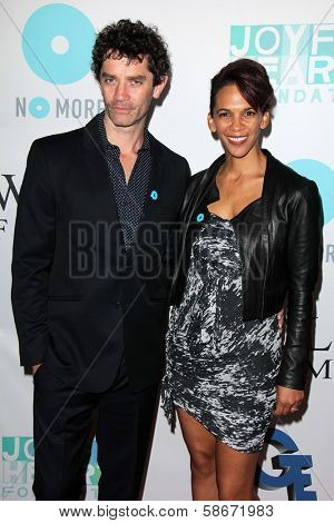 James Frain and Marta Cunningham at the Joyful Heart Foundation celebrates the No More PSA Launch, Milk Studios, Los Angeles, CA 09-26-13