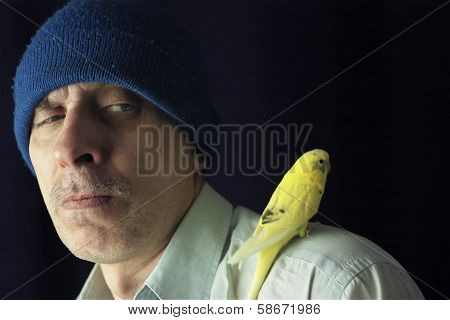 Portrait With A Budgie