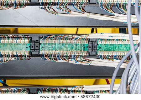 Close Up Of Wiring In Server