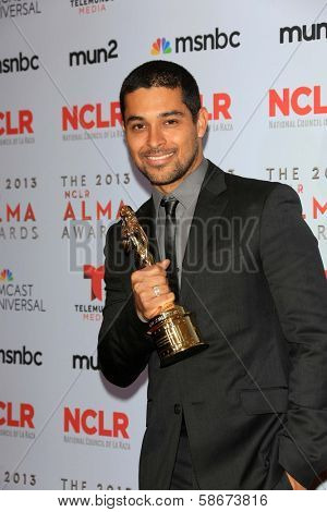 Wilmer Valderrama at the 2013 NCLR ALMA Awards Press Room, Pasadena Civic Auditorium, Pasadena, CA 09-27-13