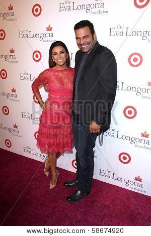 Eva Longoria and Ricardo Chavira at the Eva Longoria Foundation Dinner, Beso, Hollywood, CA 09-29-13