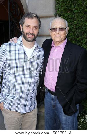 Judd Apatow and Norman Lear at The Rape Foundation's Annual Brunch, Private Location, Beverly Hills, CA 09-29-13