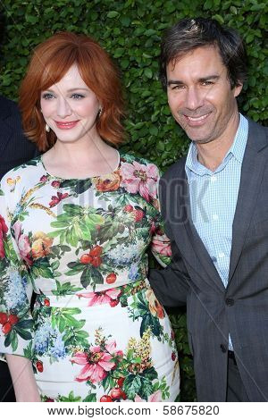 Christina Hendricks and Eric McCormack at The Rape Foundation's Annual Brunch, Private Location, Beverly Hills, CA 09-29-13