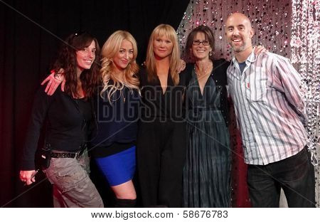 Lorna Paul, Jennifer Blanc-Biehn, Tara Buck, Susan Wrenn and Brian Gross on Set of SCARED STIFF with Jennifer Blanc-Biehn on theStream.tv , theStream.tv studios, Los Angeles, CA 10-01-13