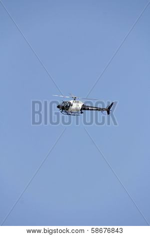 Police helicopter over a protest involving Casey Kasem's children, brother and friends who want to see him but have been denied any contact,  Private Location, , CA 10-01-13