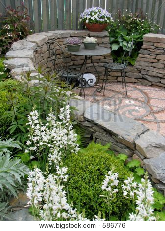 Peaceful Mosaic Garden