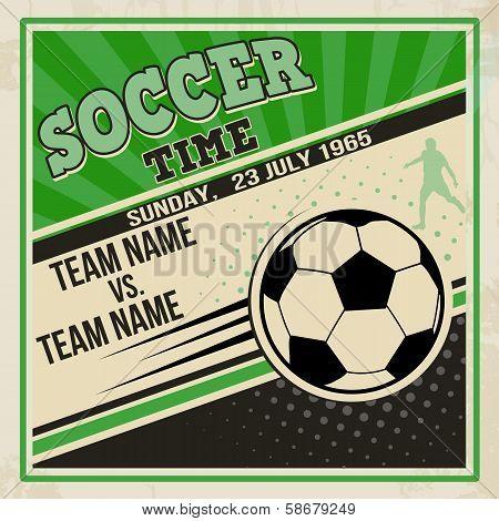 Retro Soccer Poster