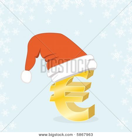 Christmas Shopping Euro Santa Cap