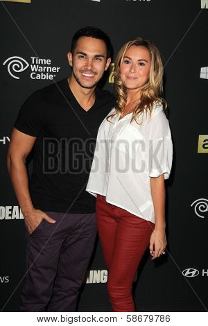 Carlos Pena and Alexa Vega at