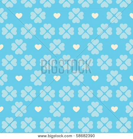 Seamless beige heart pattern
