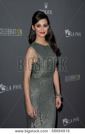 Emmy Rossum at the Walt Disney Concert Hall 10th Anniversary Celebration, Walt Disney Concert Hall, Los Angeles, CA 09-30-13