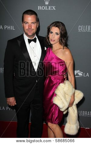 Chris O'Donnell and Caroline Fentress at the Walt Disney Concert Hall 10th Anniversary Celebration, Walt Disney Concert Hall, Los Angeles, CA 09-30-13