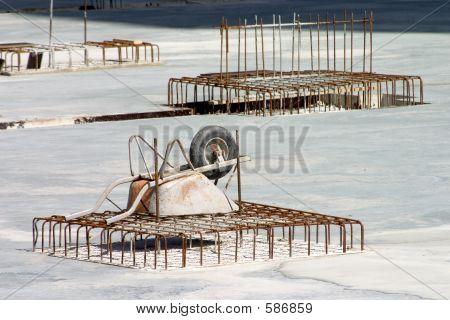 Wheelbarrow On Rebar