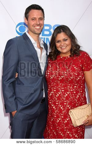 Brian McDaniel and Angelica McDaniel  at the CBS Daytime After Dark Event, Comedy Store, West Hollywood, CA 10-08-13
