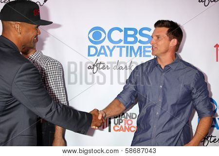 Shemar Moore and Steve Burton at the CBS Daytime After Dark Event, Comedy Store, West Hollywood, CA 10-08-13