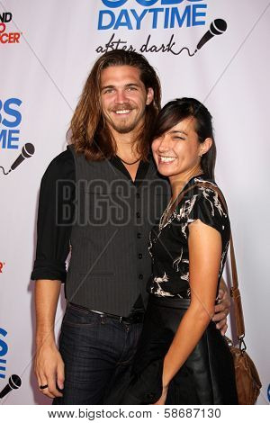 Malcolm Freberg and Lauren Smith at the CBS Daytime After Dark Event, Comedy Store, West Hollywood, CA 10-08-13