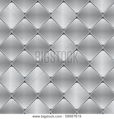 Brushed Metal Mosaic Tile Background