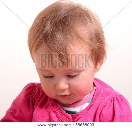 Lovely baby girl in pink