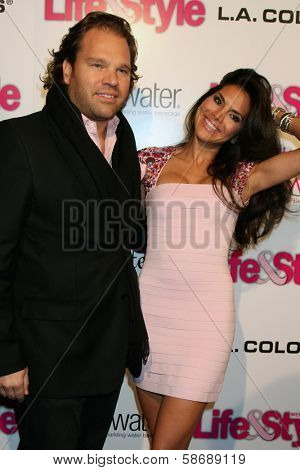 Michael Ohoven and Joyce Giraud at the Hollywood In Bright Pink, Bagatelle LA, West Hollywood, CA 10-09-13