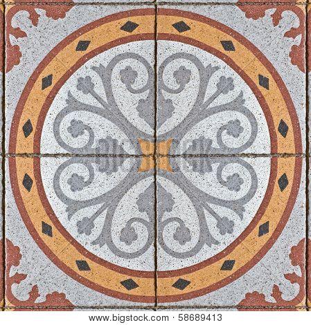 ancient square paving tile