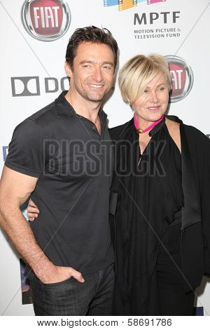 Hugh Jackman and Deborra-Lee Furness at Hugh Jackman