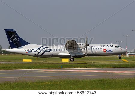 Csa Czech Airlines In Sky Team Livery