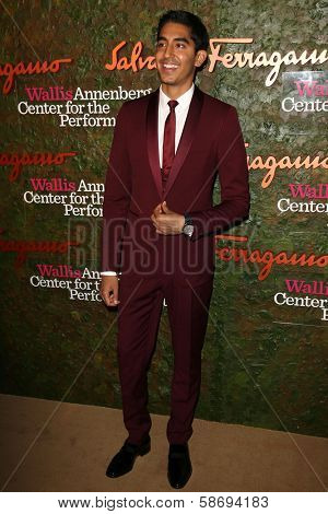 Dev Patel at the Wallis Annenberg Center For The Performing Arts Inaugural Gala, Wallis Annenberg Center For The Performing Arts, Beverly Hills, CA 10-17-13