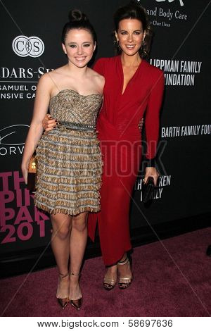 Lily Mo Sheen and  Kate Beckinsale at the Pink Party 2013, Hangar 8, Santa Monica, CA 10-19-13