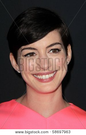 Anne Hathaway at the Pink Party 2013, Hangar 8, Santa Monica, CA 10-19-13