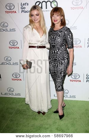 Francesca Eastwood and Frances Fisher at the 23rd Annual Environmental Media Awards, Warner Brothers Studios, Burbank, CA 10-19-13