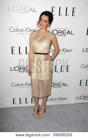 Emilia Clarke at the Elle 20th Annual