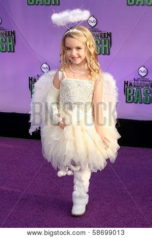 McKenna Grace at the Hub Network First Annual Halloween Bash. Barker Hangar, Santa Monica, CA 10-20-13