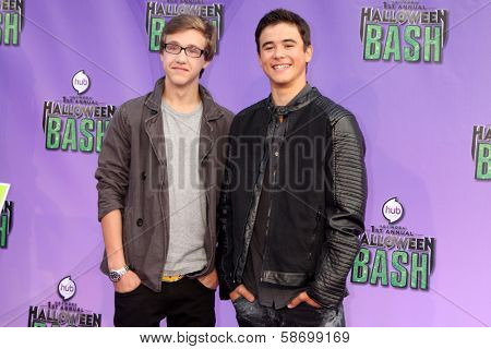 Nick Purcha and Keean Johnson at the Hub Network First Annual Halloween Bash. Barker Hangar, Santa Monica, CA 10-20-13